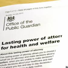 Health and Welfare Lasting Power of Attorney